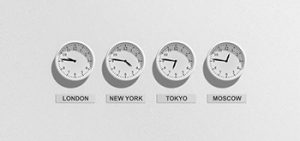 International timezone clocks