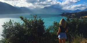 Travel and Work in New Zealand, Lake Waikatipu in Queenstown pictured