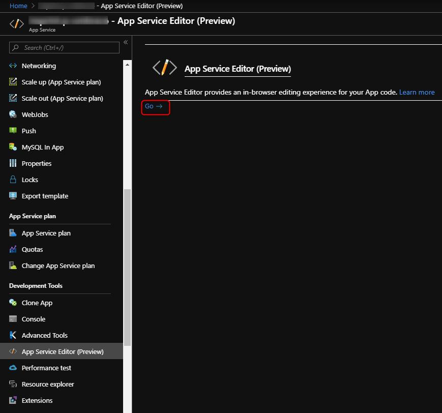 App Service Editor