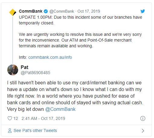 Commonwealth Bank Tweet