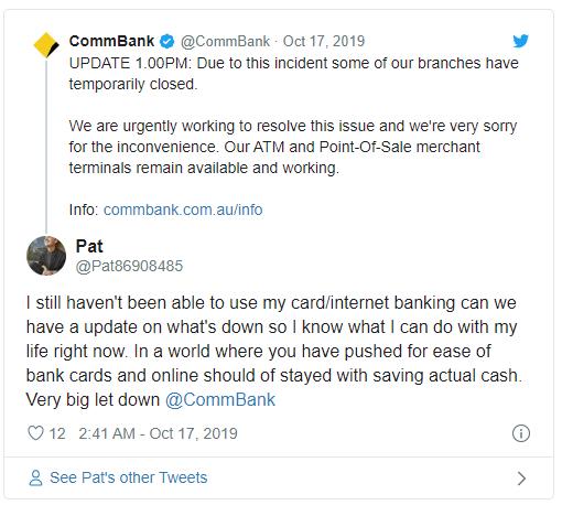 Commonwealth Bank Tweet