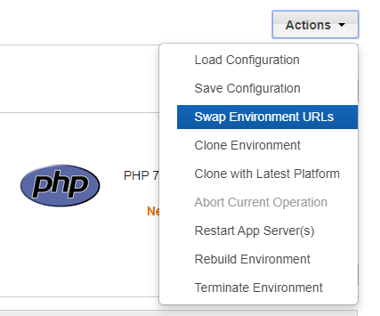 Swap environment URLs
