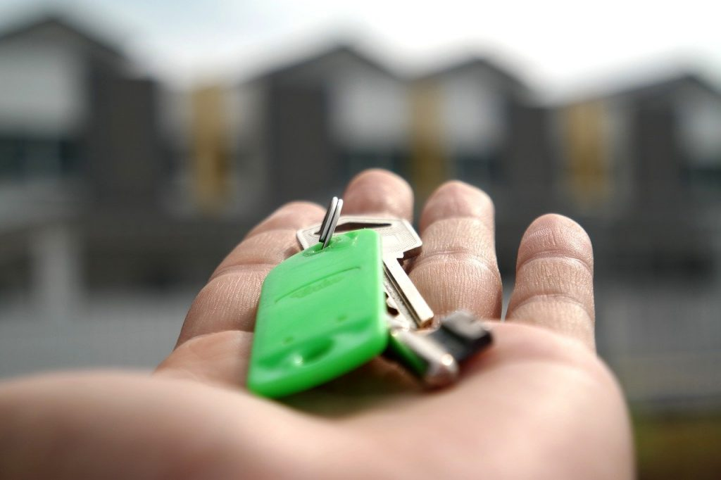 a key in a hand