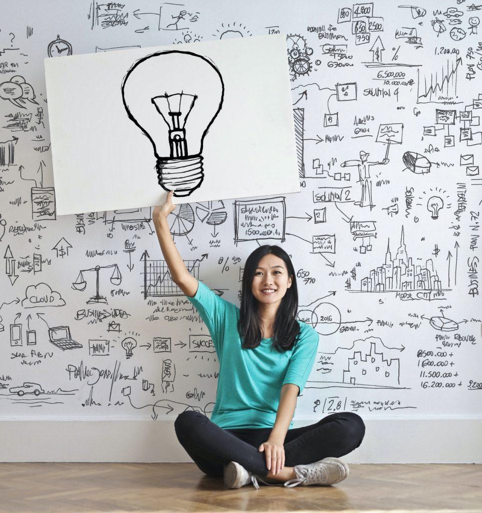 person with idea